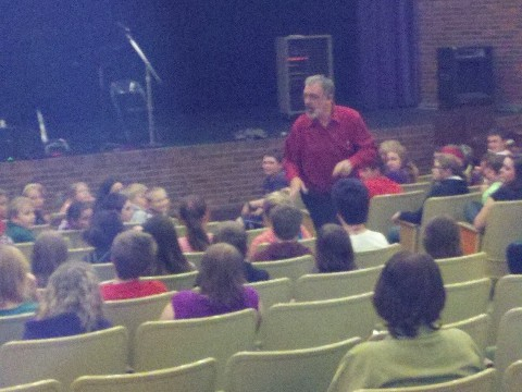 Ben speaking to Glenrock Middle school